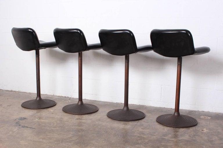 Set of Four Caribe Barstools by Ilmari Tapiovaara For Sale 6
