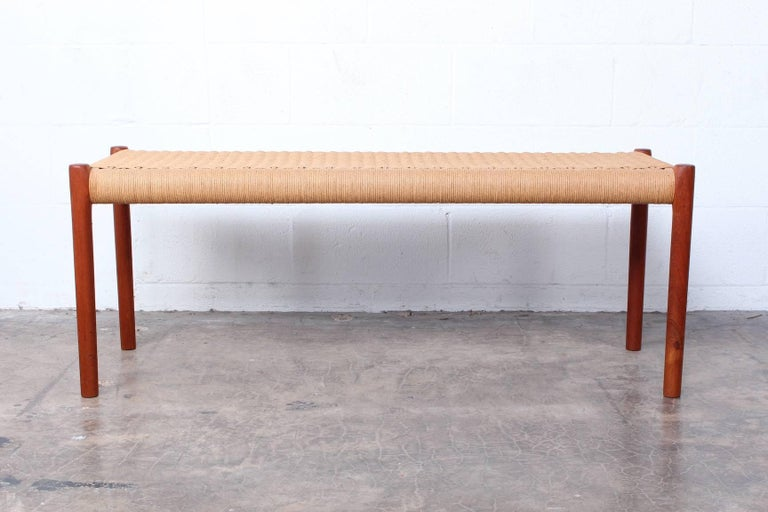 Bench by Niels O. Møller In Good Condition For Sale In Dallas, TX