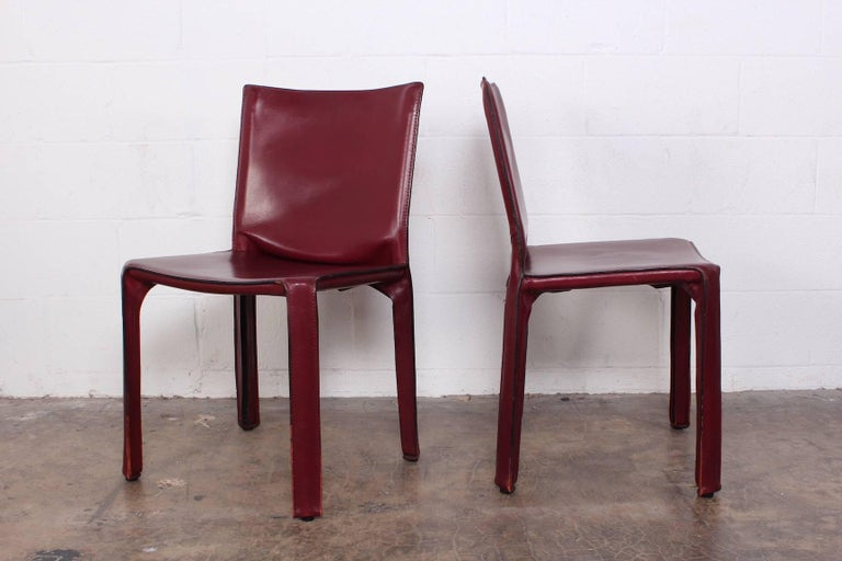 Set of Eight Cab Chairs by Mario Bellini for Cassina For Sale 3