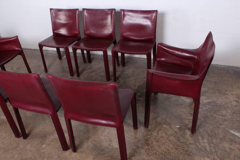 Set of Eight Cab Chairs by Mario Bellini for Cassina In Good Condition For Sale In Dallas, TX