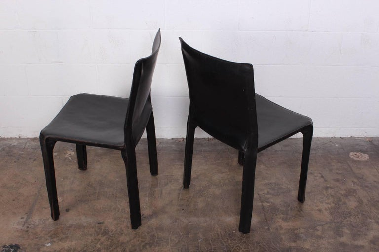 Set of Eight Cab Chairs by Mario Bellini for Cassina For Sale 5