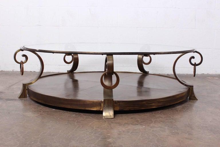 Bronze Coffee Table by Arturo Pani In Good Condition For Sale In Dallas, TX