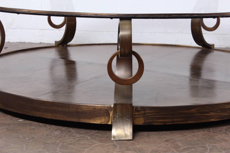 Mid-20th Century Bronze Coffee Table by Arturo Pani For Sale