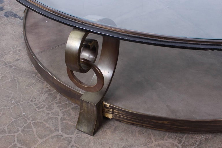 Bronze Coffee Table by Arturo Pani For Sale 7