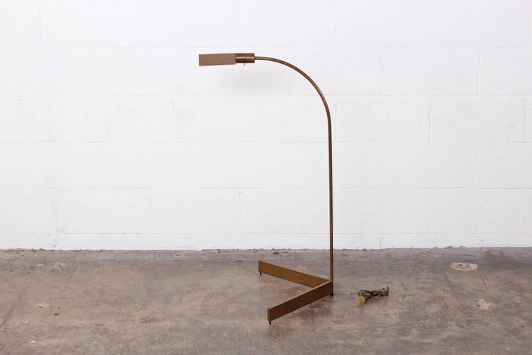 Brass Floor Lamp by Cedric Hartman In Good Condition For Sale In Dallas, TX