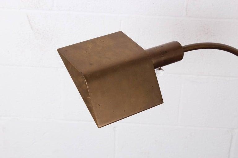 Brass Floor Lamp by Cedric Hartman For Sale 3