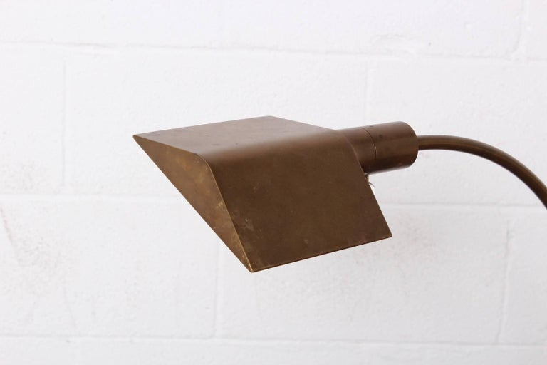 Brass Floor Lamp by Cedric Hartman For Sale 5