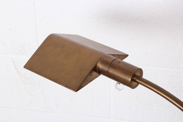 Brass Floor Lamp by Cedric Hartman For Sale 6
