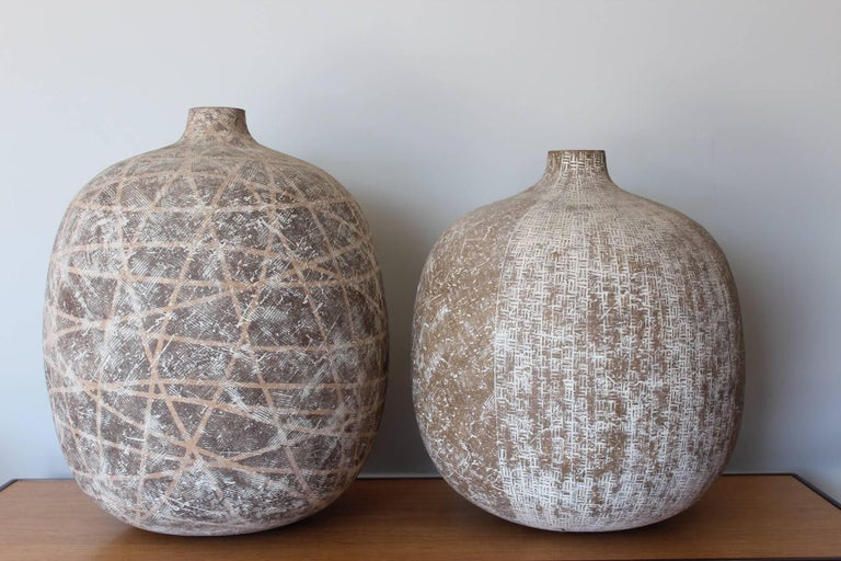 An exceptional ceramic vase by Claude Conover titled