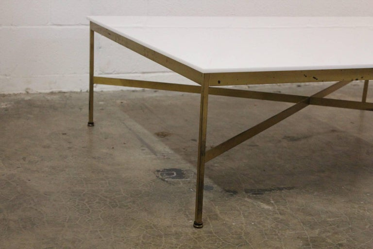 Brass and Vitrolite Coffee Table by Paul McCobb For Sale 3