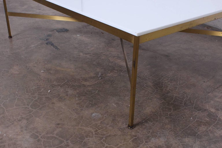 Brass and Vitrolite Coffee Table by Paul McCobb For Sale 4