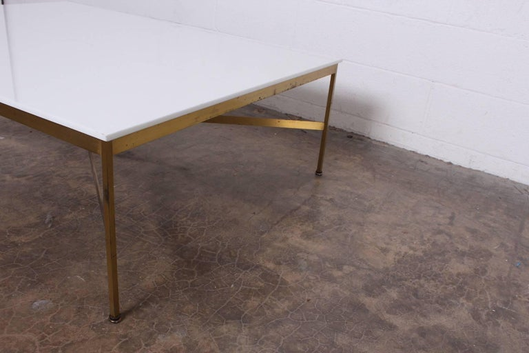 Brass and Vitrolite Coffee Table by Paul McCobb For Sale 5