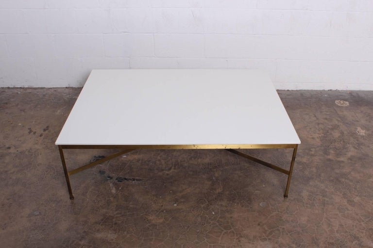 Brass and Vitrolite Coffee Table by Paul McCobb For Sale 6