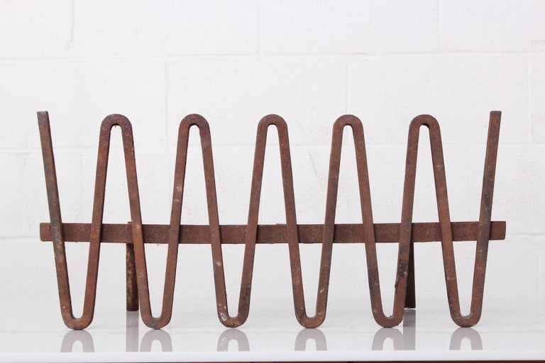 Designed by Mel Bogart for Stewart-Winthrop, this fire grate was selected for the 1955 good design exhibition.