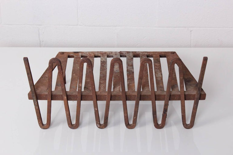 Mel Bogart Fire Grate or Andirons In Good Condition For Sale In Dallas, TX