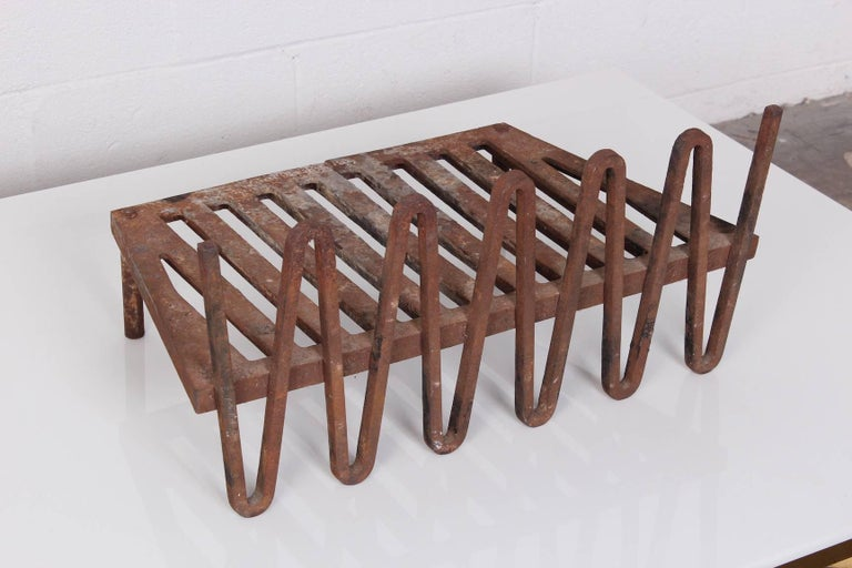 Mid-20th Century Mel Bogart Fire Grate or Andirons For Sale
