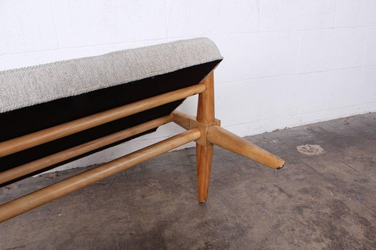 X Base Bench by T.H. Robsjohn-Gibbings For Sale 8