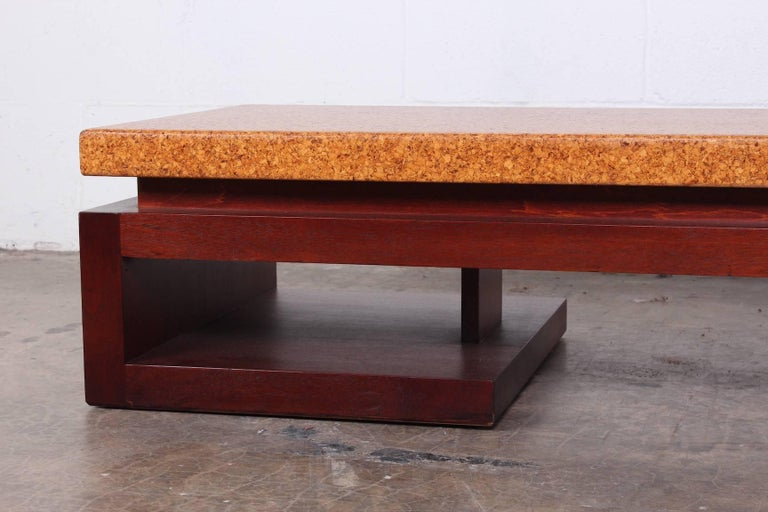 Cork Top Bench by Paul Frankl In Good Condition For Sale In Dallas, TX