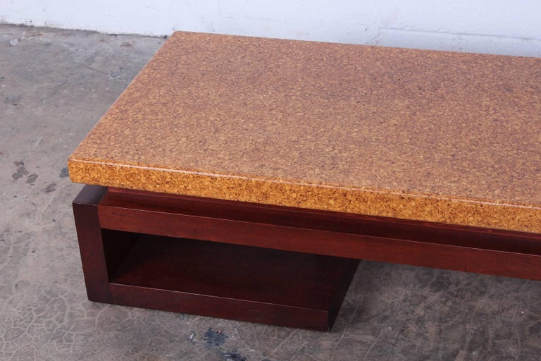 Mid-20th Century Cork Top Bench by Paul Frankl For Sale
