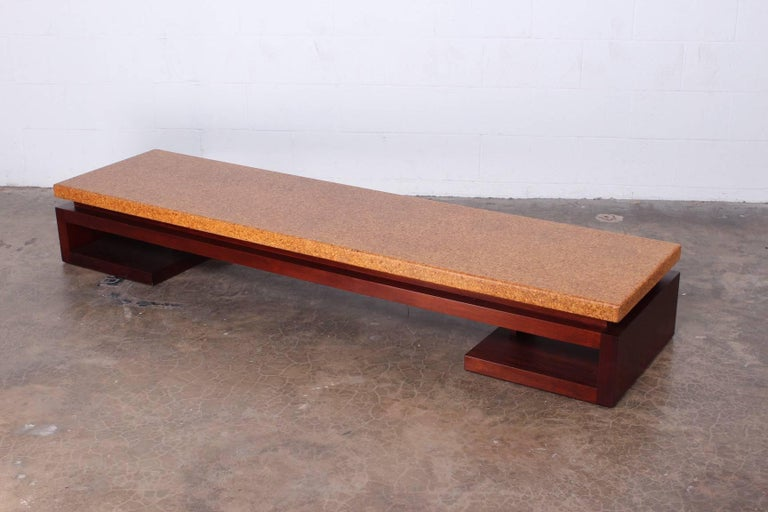 Cork Top Bench by Paul Frankl For Sale 1