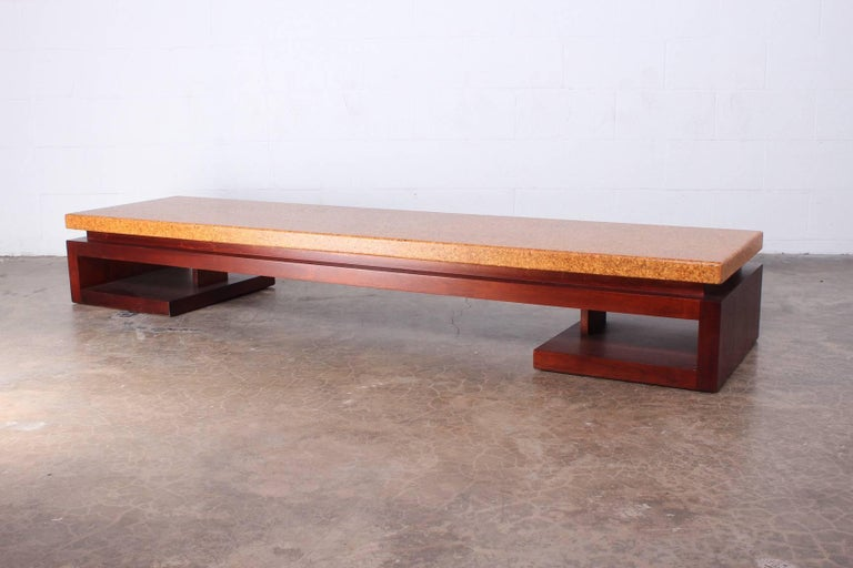 Cork Top Bench by Paul Frankl For Sale 2