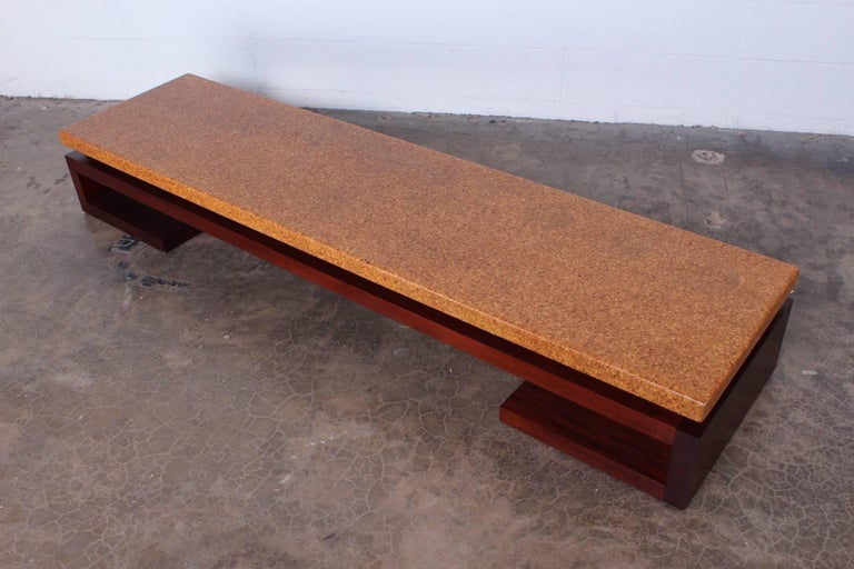 Cork Top Bench by Paul Frankl For Sale 4
