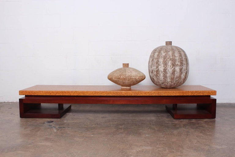 Cork Top Bench by Paul Frankl For Sale 7