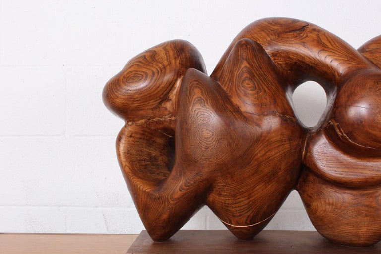 Wooden Abstract Sculpture by Robert Winslow For Sale 3