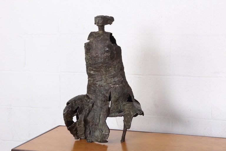 Mid-20th Century Bronze Sculpture by George Mallett, 1967 For Sale