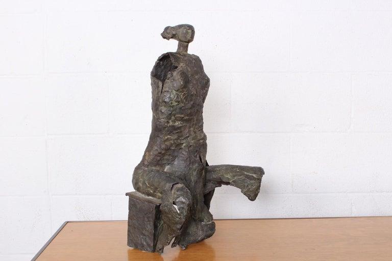 Bronze Sculpture by George Mallett, 1967 For Sale 6