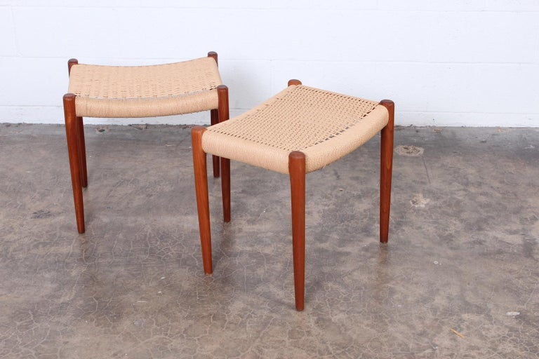 Pair of Stools by Niels O. Møller For Sale 4