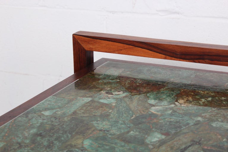 Pair of Rosewood and Agate Tables For Sale 2