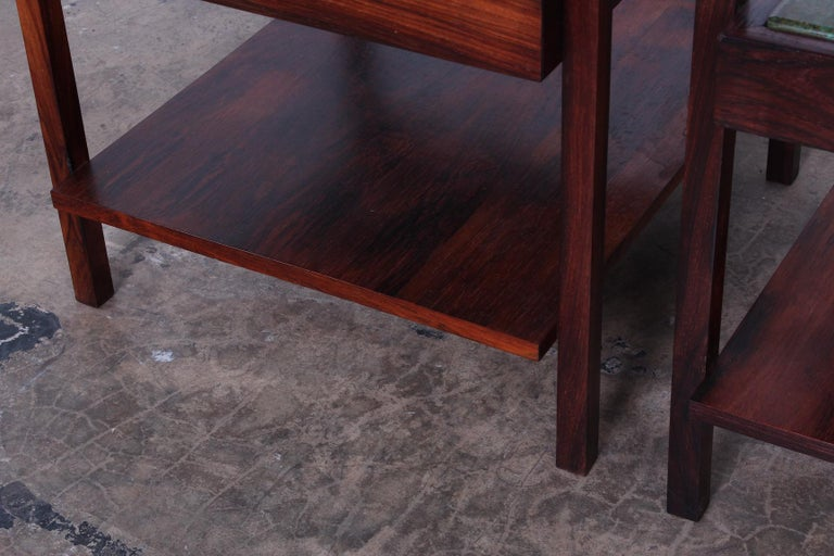 Pair of Rosewood and Agate Tables For Sale 6