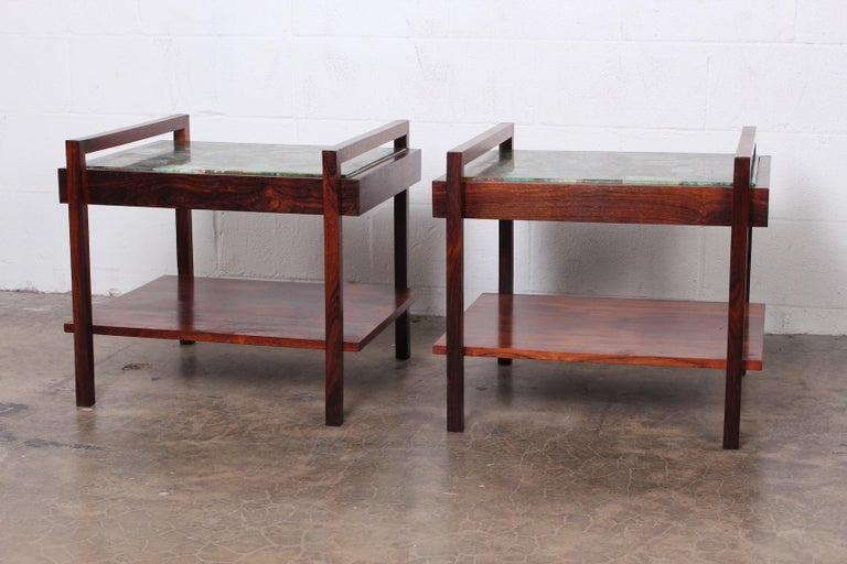 Pair of Rosewood and Agate Tables For Sale 7