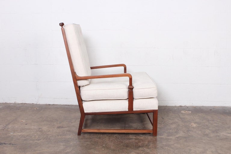 Throne Lounge Chair by Tommi Parzinger For Sale 1