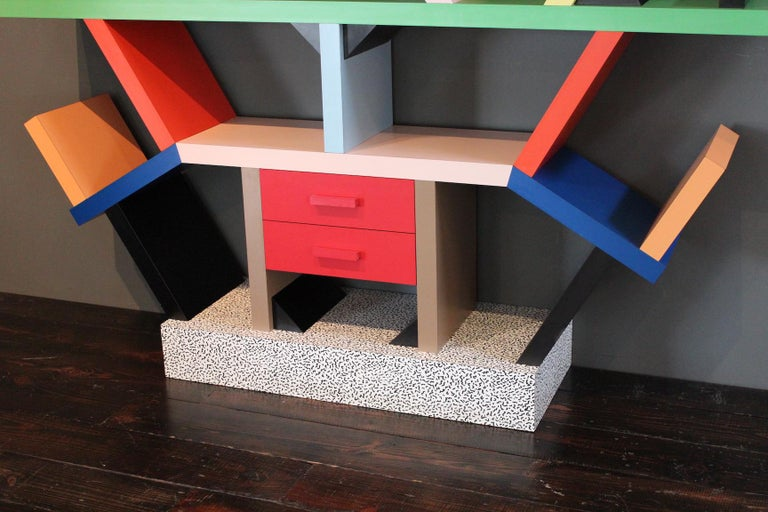 Late 20th Century Early Carlton Bookcase Roomdivider by Ettore Sottsass for Memphis, 1981 For Sale