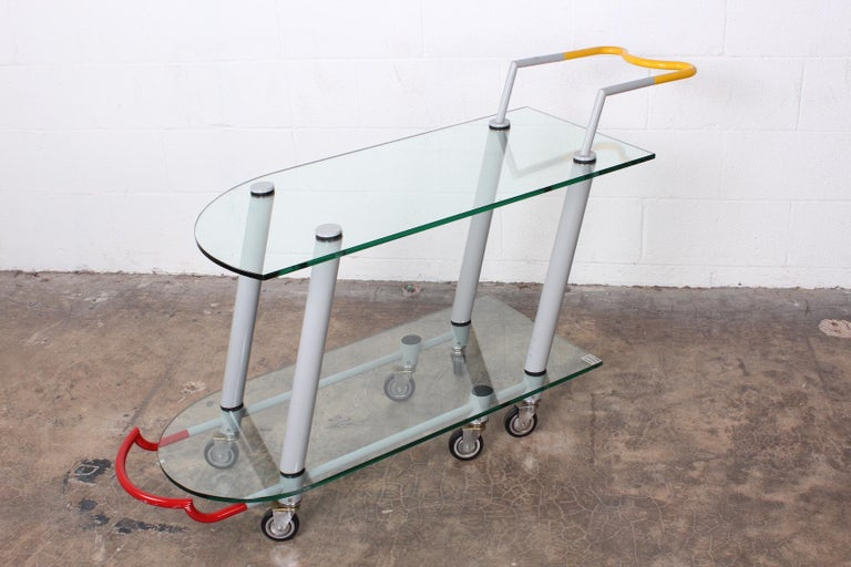 Hilton Trolly Barcart by Javier Mariscal for Memphis, 1981 For Sale 6