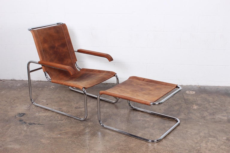 Marcel Breuer S35 Lounge Chair and Ottoman In Excellent Condition For Sale In Dallas, TX