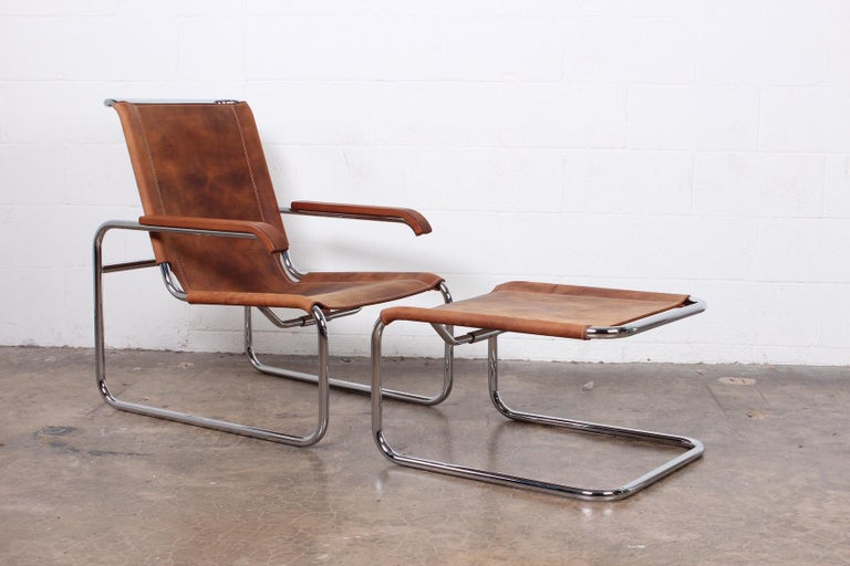 Mid-20th Century Marcel Breuer S35 Lounge Chair and Ottoman For Sale