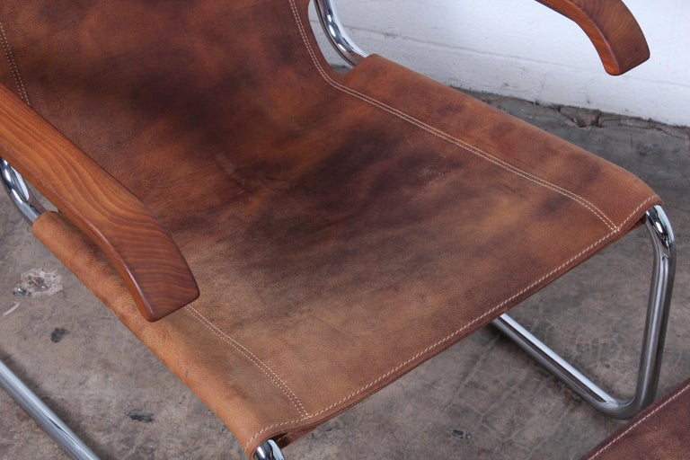 Marcel Breuer S35 Lounge Chair and Ottoman For Sale 4