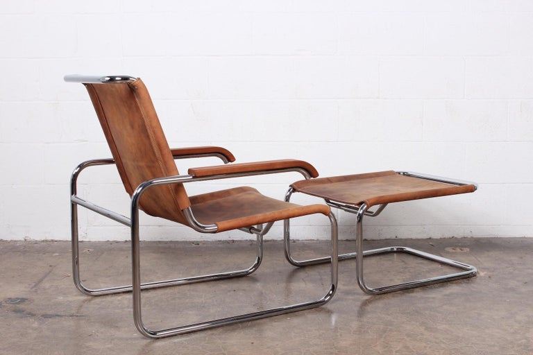 Marcel Breuer S35 Lounge Chair and Ottoman For Sale 6