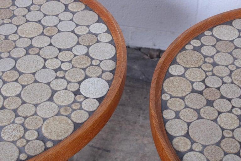 Pair of Tile Tables by Gordon Martz For Sale 1