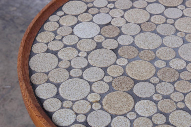 Pair of Tile Tables by Gordon Martz For Sale 2