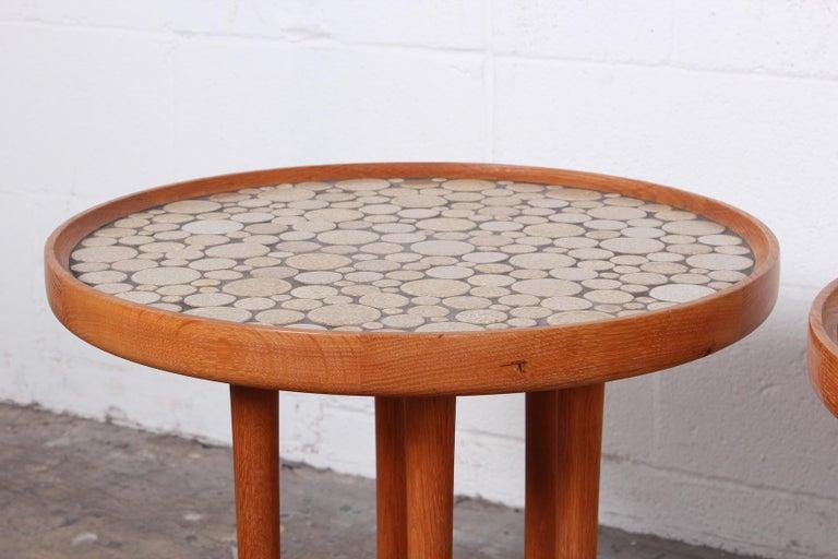 Pair of Tile Tables by Gordon Martz For Sale 4