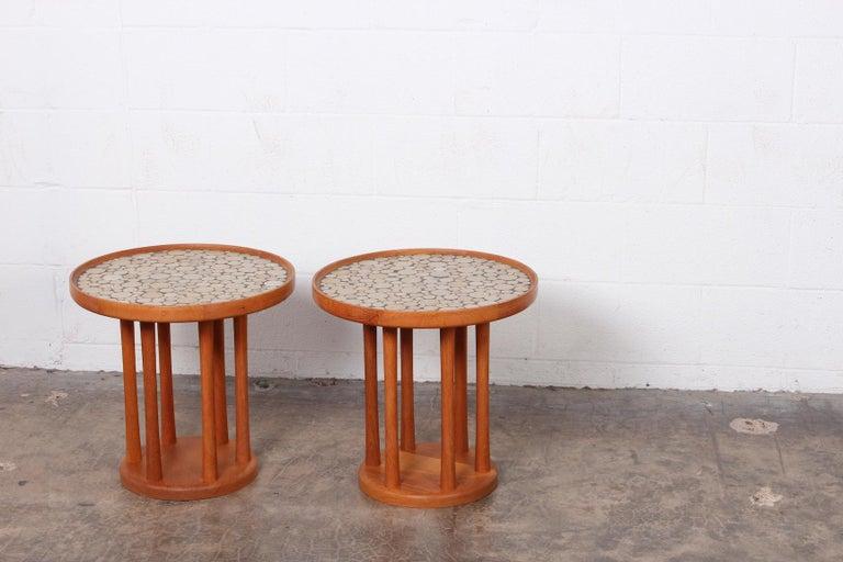 Pair of Tile Tables by Gordon Martz For Sale 6