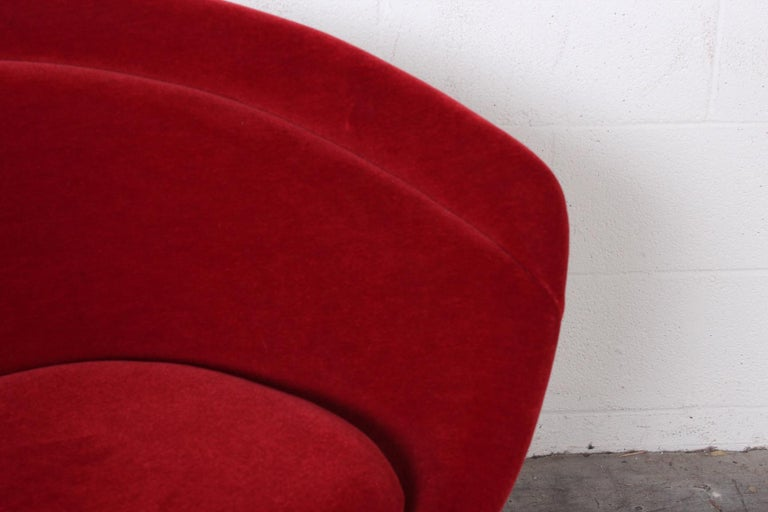 Warren Platner Lounge Chair in Mohair In Good Condition For Sale In Dallas, TX