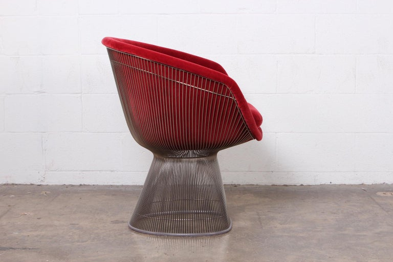 Mid-20th Century Warren Platner Lounge Chair in Mohair For Sale