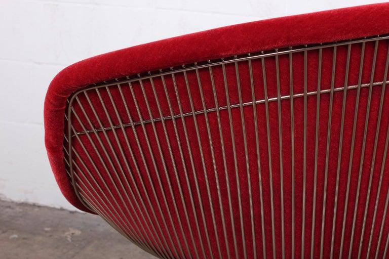 Warren Platner Lounge Chair in Mohair For Sale 3