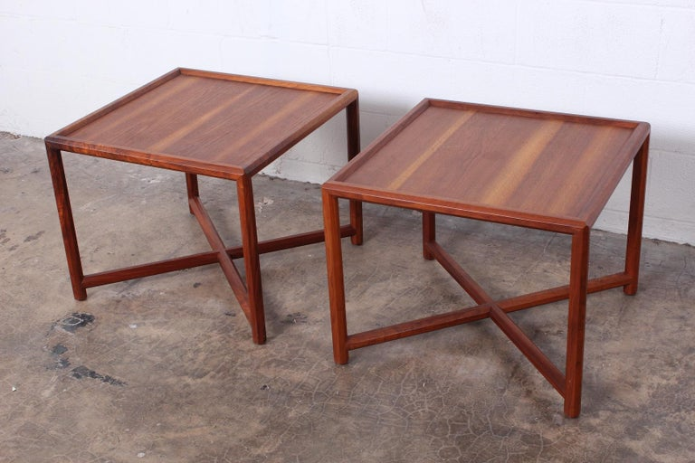 Pair of Tables by Edward Wormley for Dunbar In Good Condition For Sale In Dallas, TX