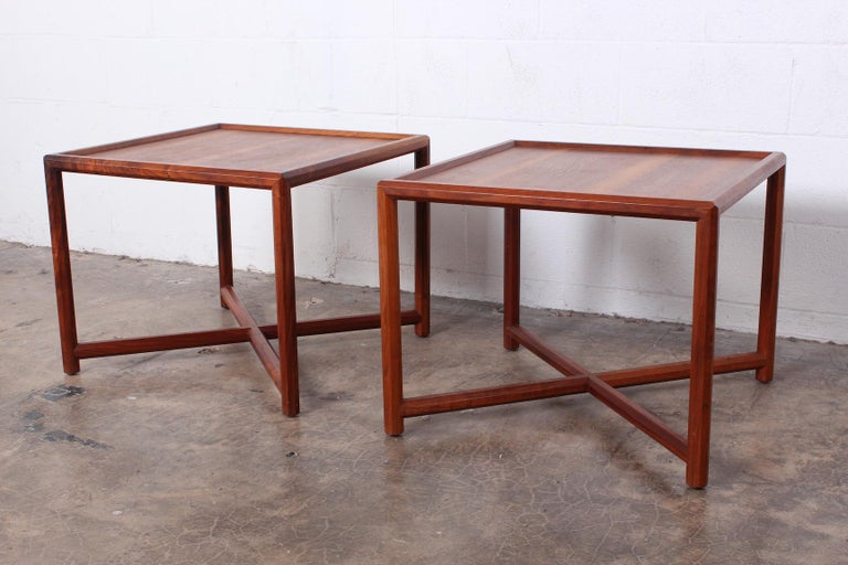 Mid-20th Century Pair of Tables by Edward Wormley for Dunbar For Sale